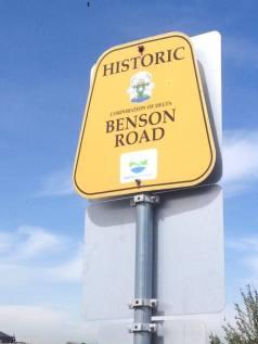 Benson Road sign
