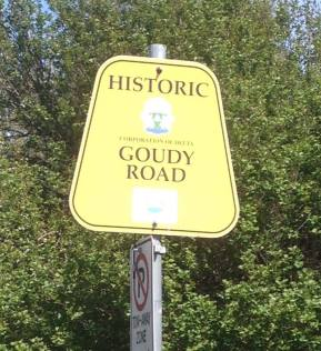 goudy road sign