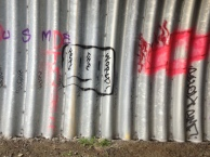 This is the tunnel under the highway north Ladysmith - amongst all the ugly (trash and slang graffti) is this...