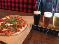 Treat myself to a pizza and beer at the Sawmill Taphouse & Grill, Chemainus, BC